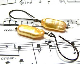 Yellow Branch Pearl Earrings Bohemian Jewelry for Women Gifts for Women