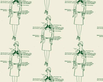 Girl Scouts Fabric - The Loyal, Courteous, Thrifty And Cheerful Girl Of 1929 By Edsel2084 - Vintage Lady Girl Scouts Fabric With Spoonflower