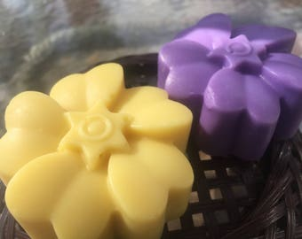 Mother's Day Floral Pastel Handmade Soap-Yellow Jonquil or Purple Lavender