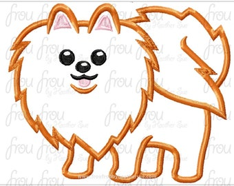 "Pomeranian Dog Digital Embroidery Design Machine Applique 4""-16"""