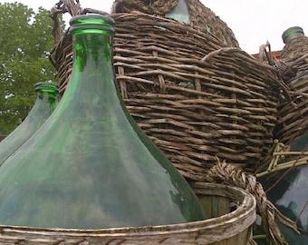 GRANDE XXXEXTRA LARGE Antique Italian Damigiana (Demijohn,or wine bottle) from late 1800's - 1900's ( #10)