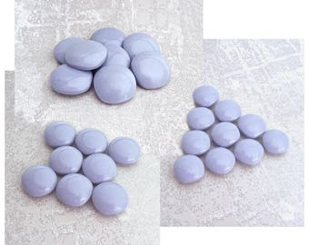 RESERVED 34 Lavender Purple Buttons - 22 @ 15mm 5/8 inch, 12 @ 18mm 3/4 inch - VTG Rounded Square Pastel Purple Plastic Shank Buttons PL603