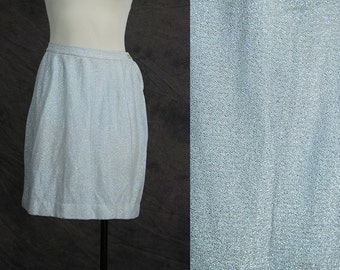 Clearance SALE vintage 60s Silver Lame Skirt - 1960s Space Age Sparkly Mini Skirt Sz S