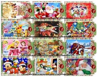 Disney Christmas (121) Scrapbook Card Embellishments Hang Gift Tags