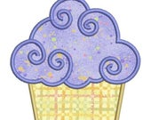 SALE 65% Off Applique Birthday Cupcake II Machine Embroidery Designs 4x4 & 5x7 Instant Download Sale
