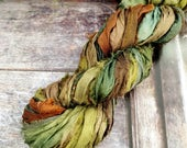 Sari Silk Ribbon Hand Dyed 15 metres for Tassels, Appliqué and Embroidery