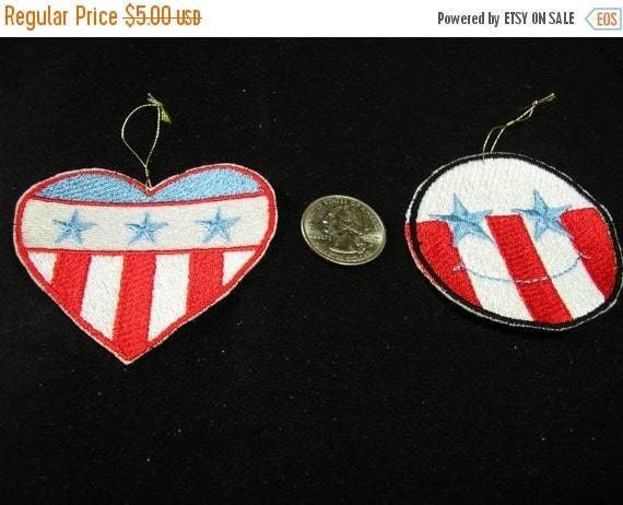50 off sale christmas tree ornaments patriotic set of 2 or gift bag