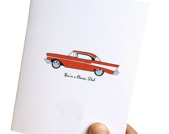 fathers day card // classic dad card / 57 chevy card // fathers day // dad card // card for dad // father card //
