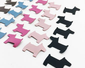 Mini Dog die cut leather applique for leather craft, scrapbooking, card making, or embellishment use. Sold individually or in multiples.
