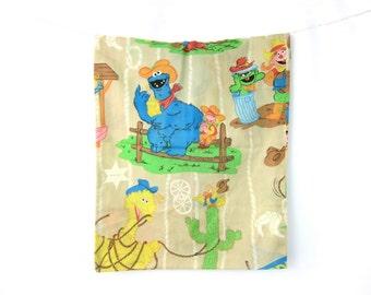 1980s Cookie Monster Sesame Street Pillowcase Hipster Bedroom Home Decor Pillow Case Fabric