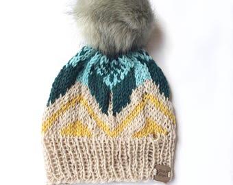 Knit hat, knit beanie, knit cable hat, knit cable beanie, women accessory, knit wear, knit gift, handmade