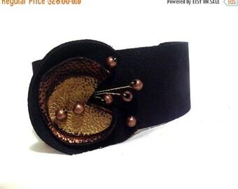40% OFF Sale Geometric leather bracelet Cuff Wristband Women's leather bracelet Leather jewelry