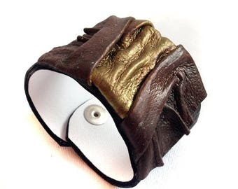 40% OFF SALE Rustic Leather bracelet Women cuff Leather jewelry Wristband Casual Elegance collection.
