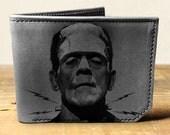 wallet, leather wallet, mens leather wallet, frankenstein wallet - 034