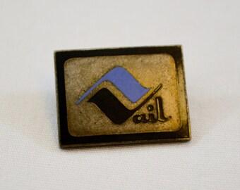 on sale Vintage VAIL Colorado enamel pin badge lapel pin pinback tie tack