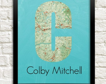 baby boy nursery wall art, nursery decor boy travel adventure nursery, custom name print personalized boy nursery print, map letter art
