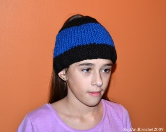 Messy Bun Beanie/ Pony Tail Hat/ Mom Life Beanie/ Messy Bun Hat/ Adult Ear Warmer Hat/ Mom Life Hat/ Crochet Beanie/ Mom Bun
