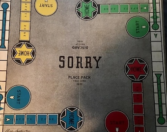 Vintage 1950 Parker Brothers The Great Game Sorry! Board Game BOARD ONLY Antique
