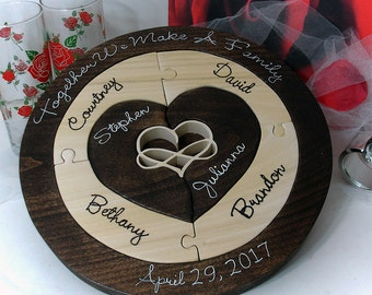 Custom Designed Unity Ceremony Wedding Puzzle Blended Family Wedding Unity Puzzle Custom Designed Family Puzzle Mothers Day Gift Anniversary