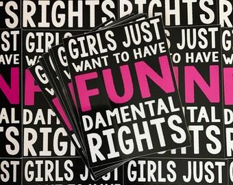 Weatherproof Vinyl Sticker - Fundamental Rights - Unique, Fun Sticker for Car, Luggage, Laptop - Artstudio54