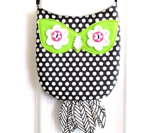 SALE! girls purse cross body bag kids purse owl bag