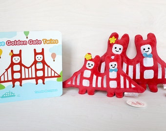 Golden Gate Twins Gift Set - Children's book and plush toy