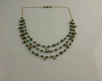 Emerald Layer Necklace