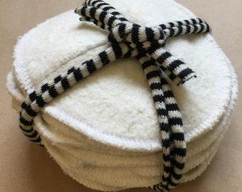 Nursing Pads with Dart/Washable Hemp and Organic Cotton / 5 pairs / 10 Pads