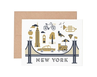 New York City Letterpress Greeting Card - Blank Card | Greeting Cards |
