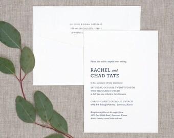 Simply Modern Wedding Invitations - Classic Modern Typography Bold