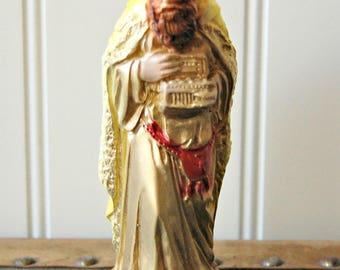 Vintage Chalkware Nativity Wiseman figurine Religious Christmas