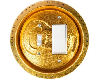 Beer Can Toggle and Decora Rocker Switch Plate Cover