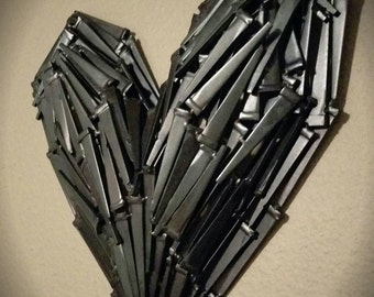 Tougher Than Nails - Welded Nails Heart Art