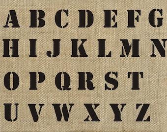 Letter Stencil 2 inch Basic Alphabet Stencil, Plaster Stencil, Furniture Stencil Wall Stencil
