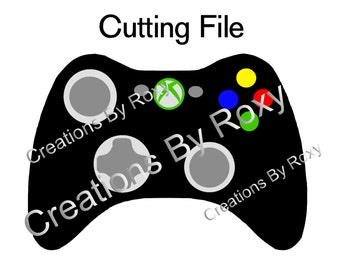 XBOX Controller Cutting .svg, dxf, and png