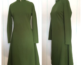 70's Green Dress Size 14