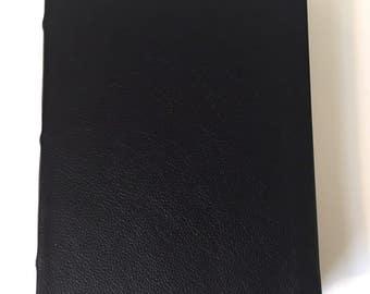 Black Blank Leather Journal