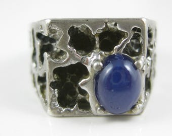 Size 9 Vintage Sterling Silver Star Sapphire Ring