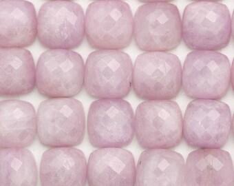 10mm Rose Cut Square Cushion Kunzite Cabochons | Square Kunzite Cabochon | Rose Cut Kunzite Cabochon | Pink Kunzite | Pink Catseye
