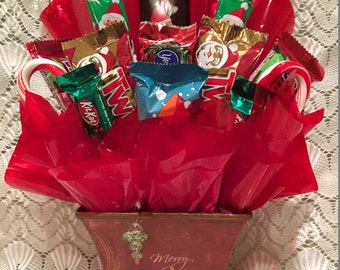 Merry Christmas Candy Arrangement