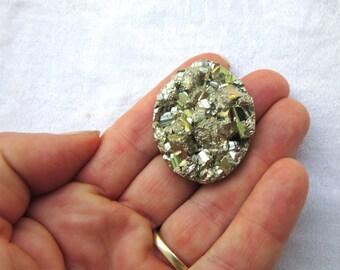 Pyrite, Pyrite Cabochon, Pyrite Crystal, Fools Gold