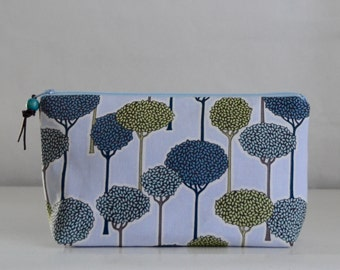 Timber Wide Padded Zipper Pouch Gadget Case Cosmetics Bag - READY TO SHIP