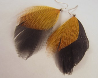 feather earrings  Mallard is the new black hand made