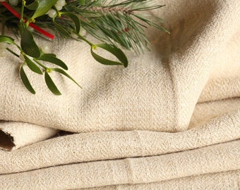 R 510 : antique handloomed  13.66 yards french 리넨  upholstering curtain projects wedding  NATURAL CREAMY