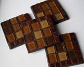 SALE - Tan Brown Coasters (Set of 4)