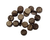 20 Flat Round Coconut Beads 9mm (PC291)