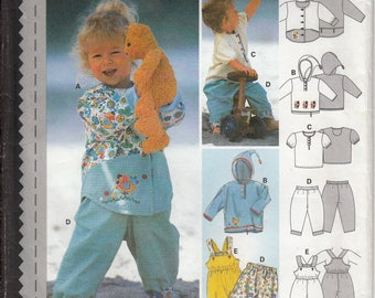 Burda 3028 Sewing Pattern Baby Coordinates size 3M to 2