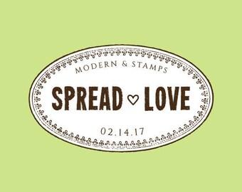 Wedding Stamp   Custom Wedding Stamp   Custom Rubber Stamp   Custom Stamp   Personalized Stamp   Spread the Love Stamp   Vintage Stamp C332