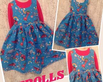 Cupcakes & Rainbows Trolls * handmade dress classic jumper CUSTOM SIZES for girl 2 3 4 5 6 7 8 10 12 14 sewnbyrachel