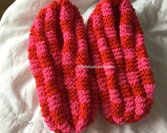 Phentex house women shoes slippers hand knitted
